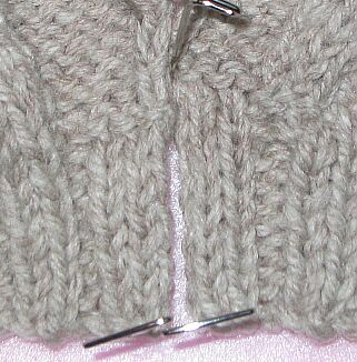 look for the purl bumps to see where they should match
