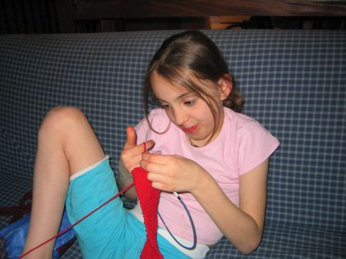 Emma_knitting