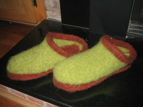 Felted_clog_after