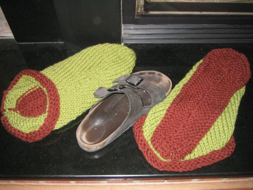 Felted_clog_before